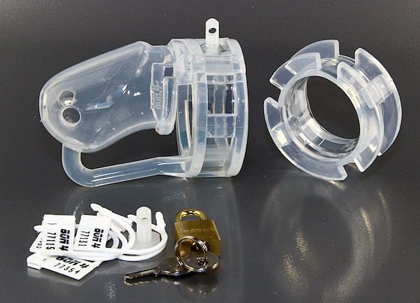 BON4 Silicone Male Chastity Cage Small