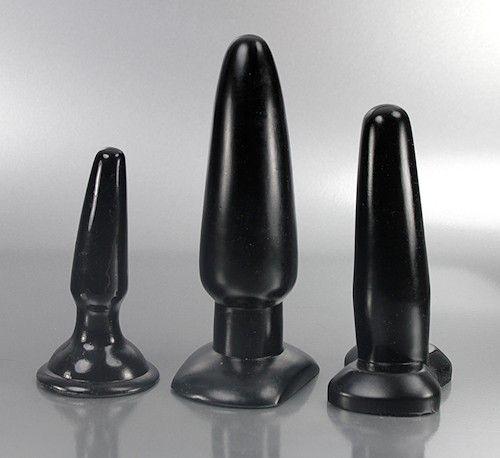 Butt Plug Set schwarz