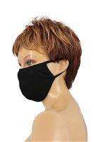 Atemschutzmaske Baumwolle schwarz