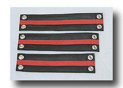 Leder Handgelenkband mit rotem Einsatz