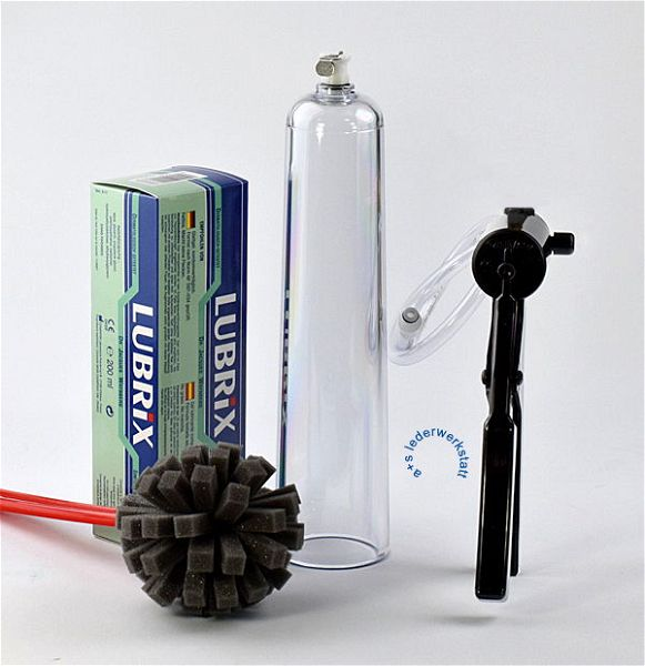 Penispumpe Set Premium mit konischem Vakuumzylinder