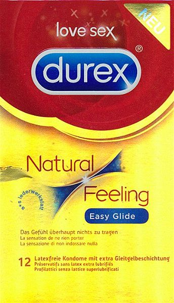 12 Durex Natural Feeling Kondome latexfrei