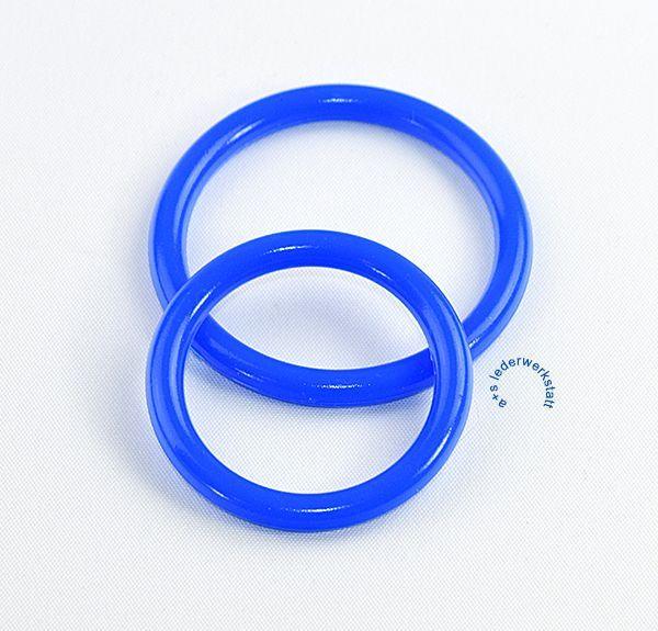 Restriktionsringe Penisringe Silikon blau